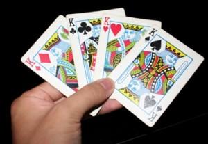 Meilės būrimas žaidimo kortomis – Keturi Karaliai