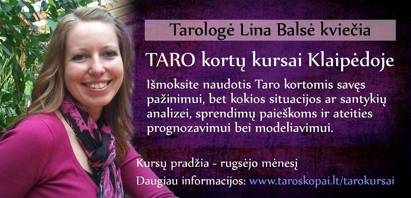 Taro kortu kursai Klaipedoje